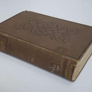 A book with brown cover.