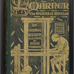 Book with green cover and gold lettering. Shows a man weaving.