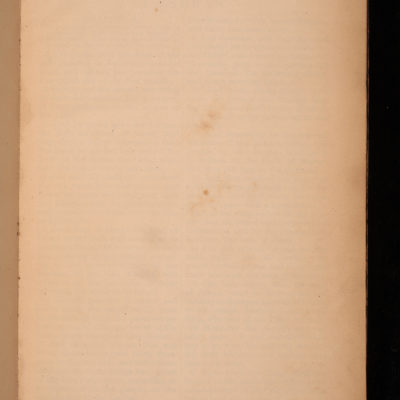 Inner cover of a large book. In right hand corner in pencil are the words 'Given to G.H.L (for specially large type print.)